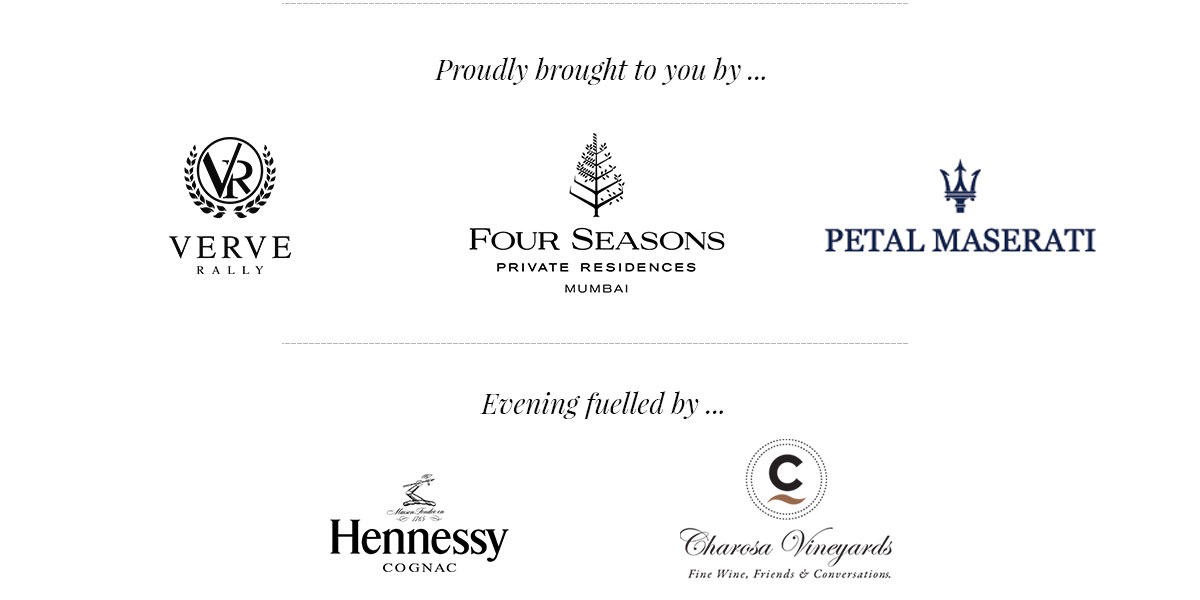 Our partners in India: Four Seasons Private Residences, Petal Maserati, Hennessy, Charosa Vineyards