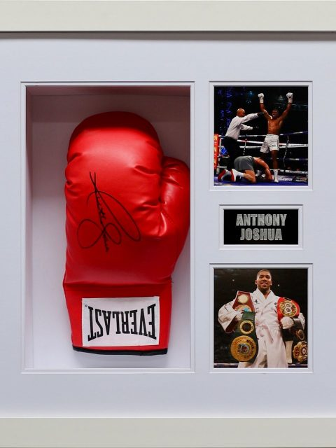 Anthony Joshua signed box glove - Verve Rally Charity Gala